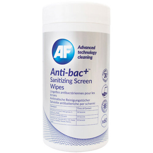 Anti-Bac Sanitising Screen Wipes Pack of 60 ABSCRW60T