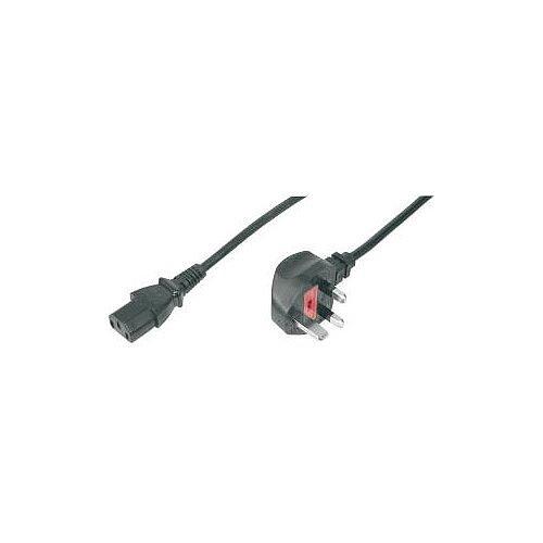 Assmann Standard Power Cord 1.80 m Length BS 1363 IEC 60320 C13 250 V AC Voltage Rating 10 A Current Rating Black AK-440107-018-S