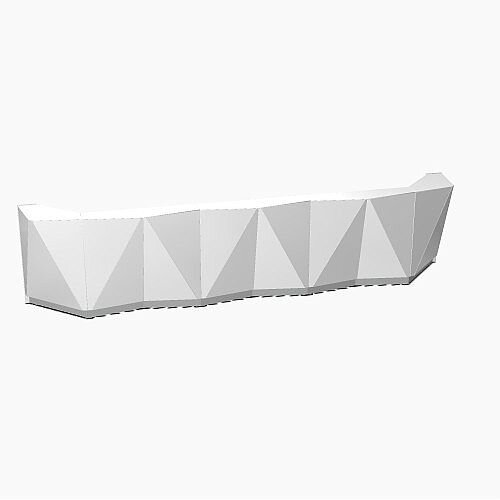 ALPA Straight Reception Desk with Silver Glass Front W4813xD946xH1100mm