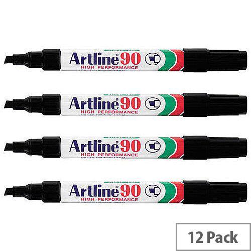 Artline 90 Black Markers Pack of 12