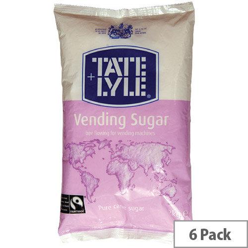 Tate &Lyle Vending Sugar White 2kg Pack of 6