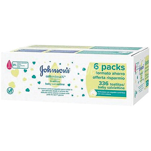 Johnsons Baby Wipes Extra Sensitive Pack of 336 TOJOH668