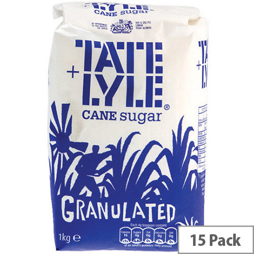 Tate and Lyle Granulated White Sugar 1 kg (Pack of 15) A06636