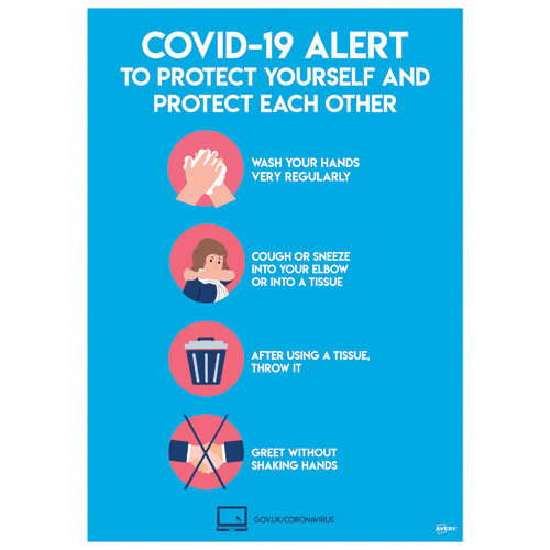 Avery Virus Prevention Label 420x297mm A3 Pack of 2 COVVPA3