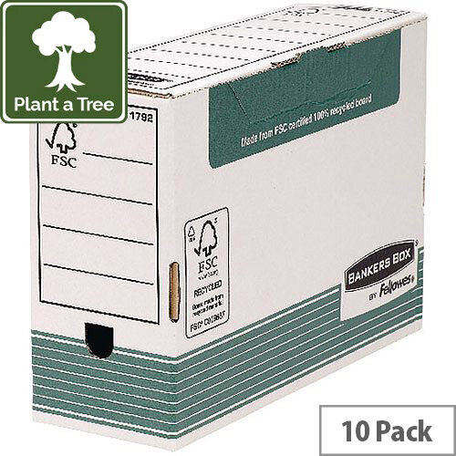 Fellowes Panda Transfer File Foolscap Green/White 120mm
