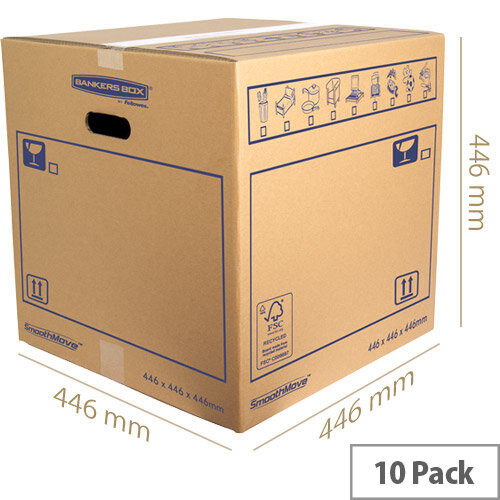 Bankers Box SmoothMove Standard Moving Box 446 x 446 x 446mm Pack of 10 6207401