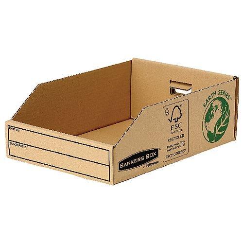 R-Kive Earth Corrugated Bin W200mm Pack 50