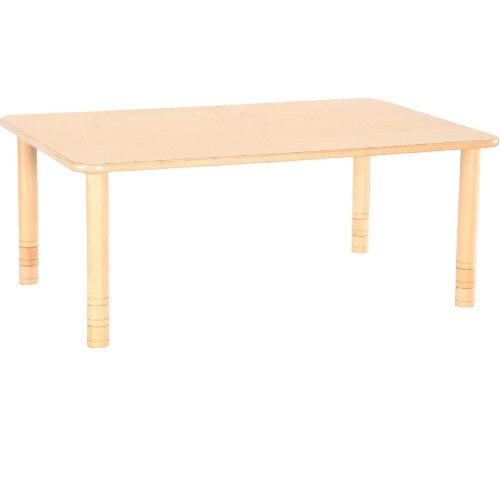 Flexi Rectangular Height Adjustable Table 48-58cm Beech Finish