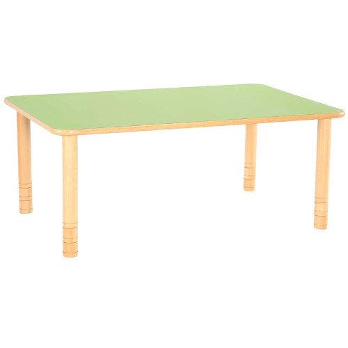 Flexi Rectangular Height Adjustable Table 48-58cm Green Top