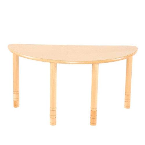 Flexi Half Round Height Adjustable Table 48-58cm Beech Finish