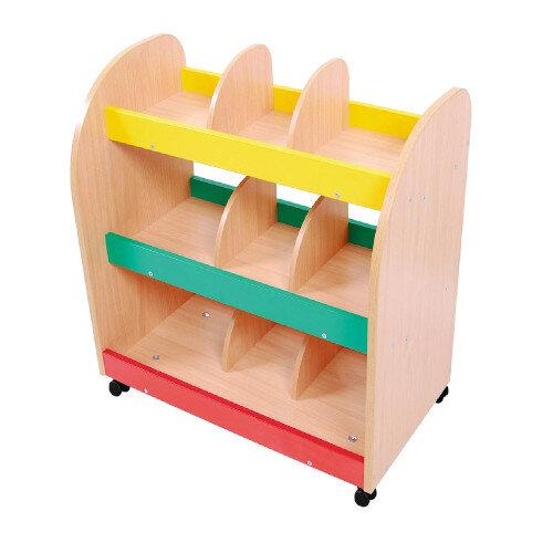 Flexi 3 Shelf Storage &Display Bookcase 9 Compartments Birch Tone 74x40x70cm