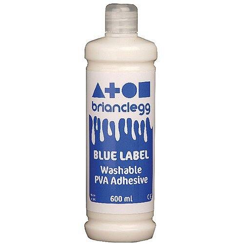 Brian Clegg PVA Glue Blue Label 600ml GL600B