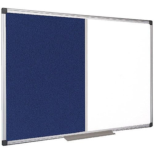 Bi-Office Combination Magnetic and Felt Board 1200x900mm