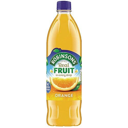 Robinsons Orange Squash No Sugar 1 Litre 4113 Dilute With Water Concentrated Cordial