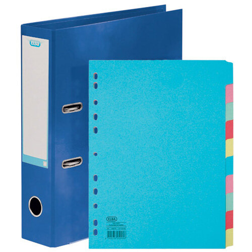 Elba Classy 70mm Lever Arch File A4 Blue FOC 10/Pt Divider