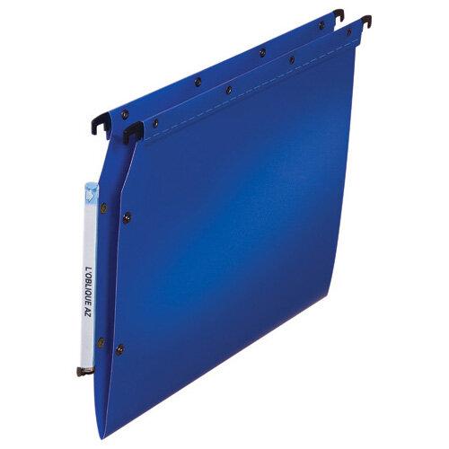 Elba Ultimate Lateral File Vbtm PP A4 Blue Pack of 25 100330583