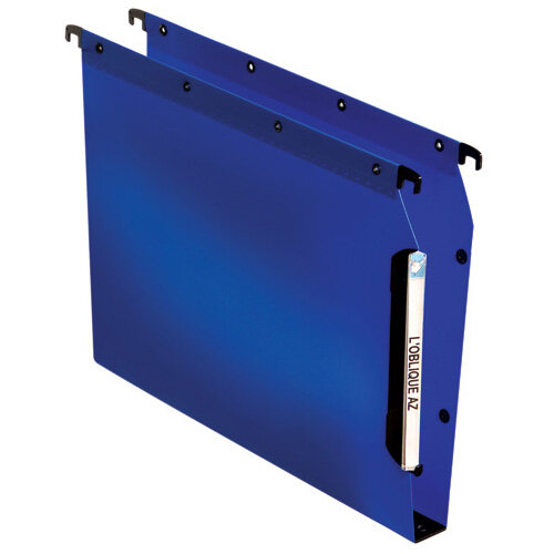 Elba Lateral File PP 30mm A4 Blue Pack of 25 100330584