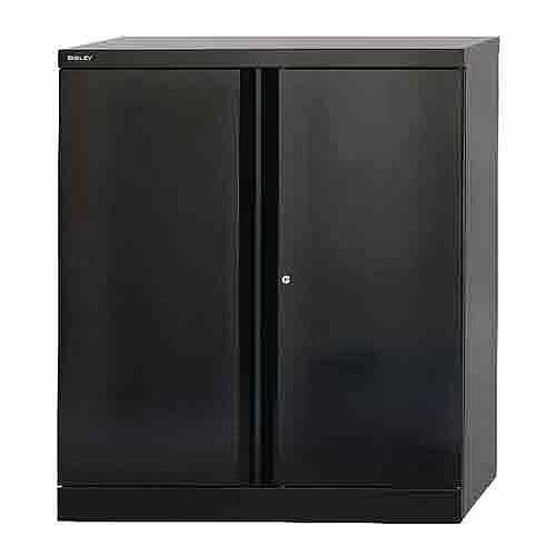Bisley 2 Door Cupboard W914xD457xH1016mm Black BY34174