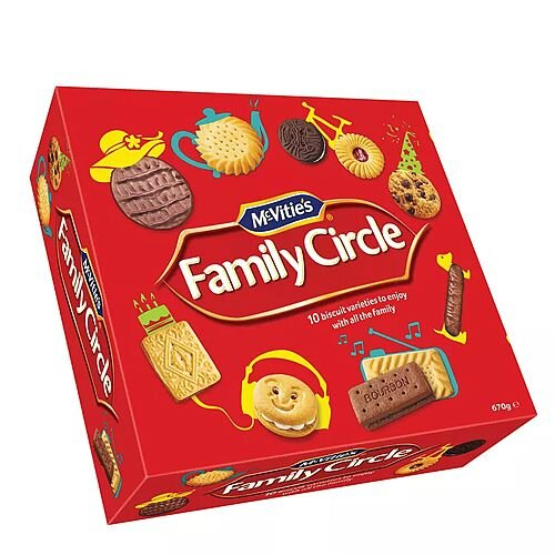 McVities Family Circle Biscuits 670g Box Assorted Pack 1
