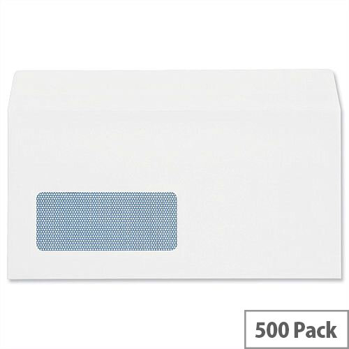 Plus Fabric White DL Window Envelopes Self Seal Wallet 110gsm Pack of 500