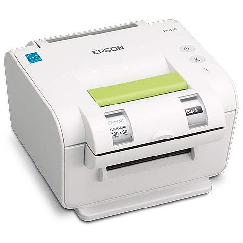 "Epson LabelWorks Pro100 Thermal Transfer Printer - Monochrome - 100 mm (3.94"") Print Width 300 dpi - USB"