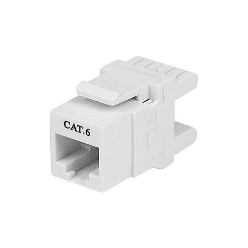 StarTech 180° Cat 6 Keystone Jack RJ45 Ethernet Cat6 Wall Jack White 110 Type 1 x RJ-45 Female White