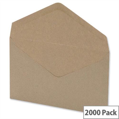 C6 Envelopes Manilla Wallet (Pack of 2000)