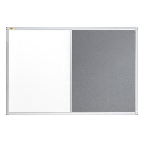 Franken ValueLine Magnetic Combination Board Lacquered/Grey Felt Surface 900x600mm CB300212