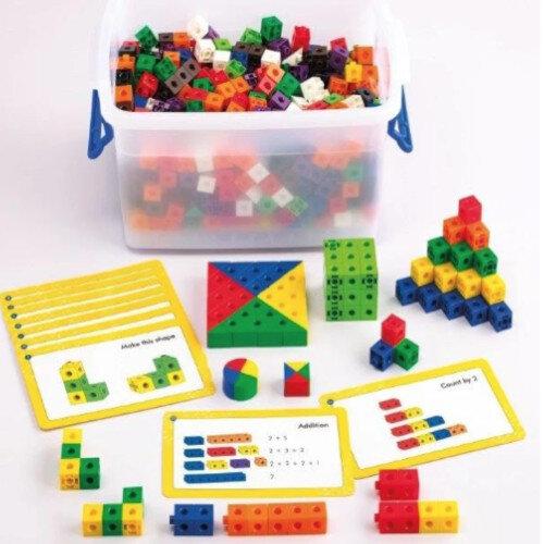 Building Blocks Linking Set 500 Blocks In 10 Bright Colours