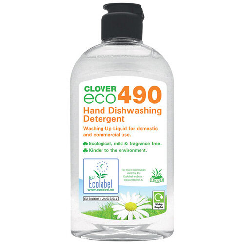 Clover ECO 490 Dishwashing Detergent 300ml Pack of 6 490