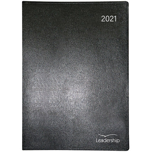 Collins Leadership 2021 A4 Appointment Diary Week to View Black CP6740