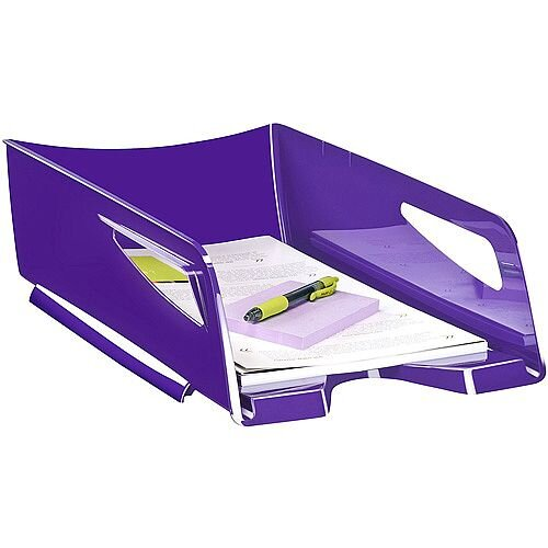 CEP Maxi Gloss Letter Tray Purple 1002200021