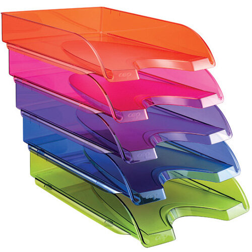 Happy by CEP Letter Tray Multicoloured Pack of 5 200+*5 Happy