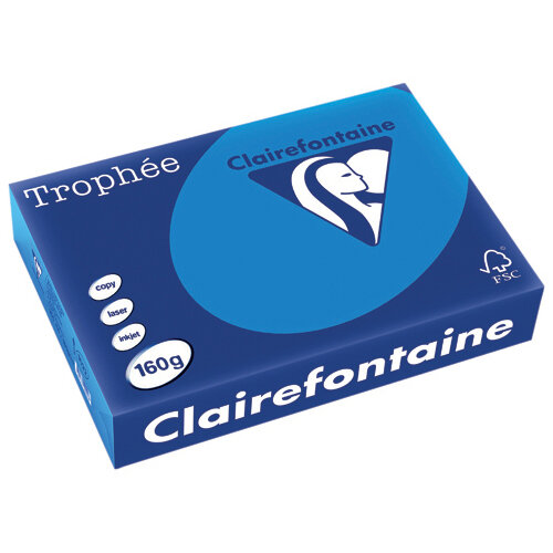 Trophee Card A4 160gm Intensive Blue Pack of 250 1022C