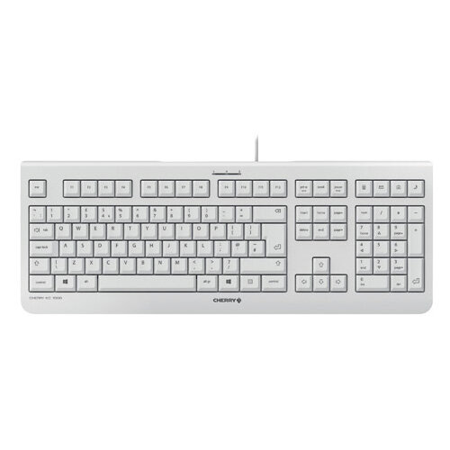 CHERRY KC 1000 Flat Wired Keyboard Pale Grey JK-0800GB-0