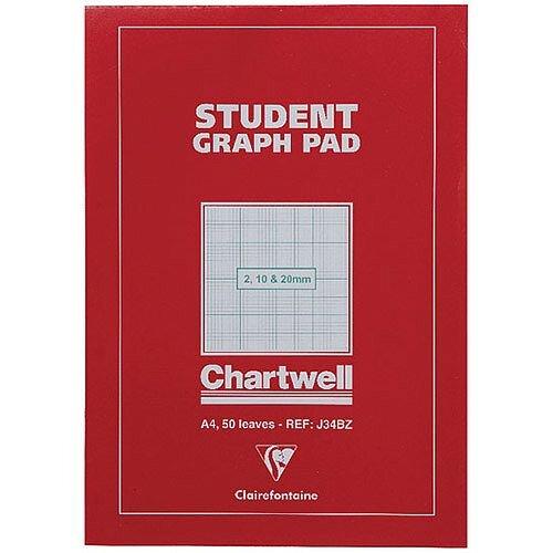 Chartwell Graph Pad A4 50 Sheets 2-10-20mm J34B
