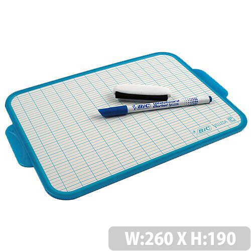 Bic Velleda Dry Wipe Board 190x260mm Blue 218 002183