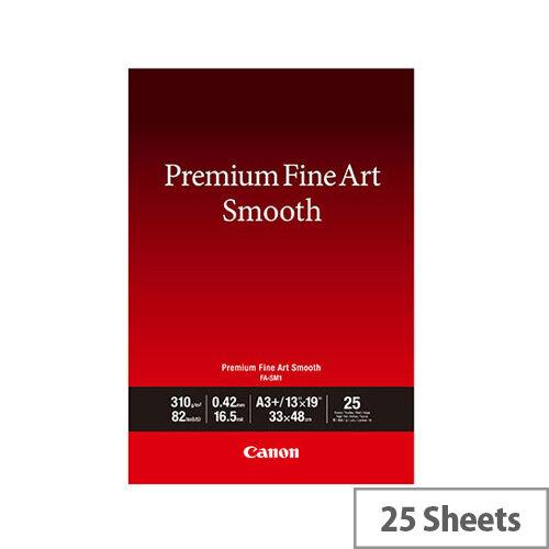 Canon Premium Fine Art Smooth A3 Plus Paper 25 Pack 1711C004