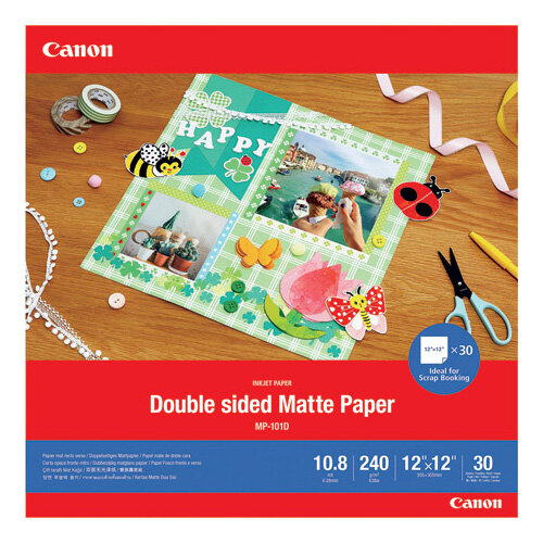 Canon Double-Sided Matte Photo Paper 12x12 Inch 30 Sheets 4076C007