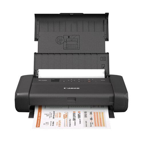 Canon PIXMA TR150 Inkjet Printer - Colour - 4800 x 1200 dpi Print - Manual Duplex Print - 50 Sheets Input - Wireless LAN - Battery Included - Colour: Black - 4167C028AA