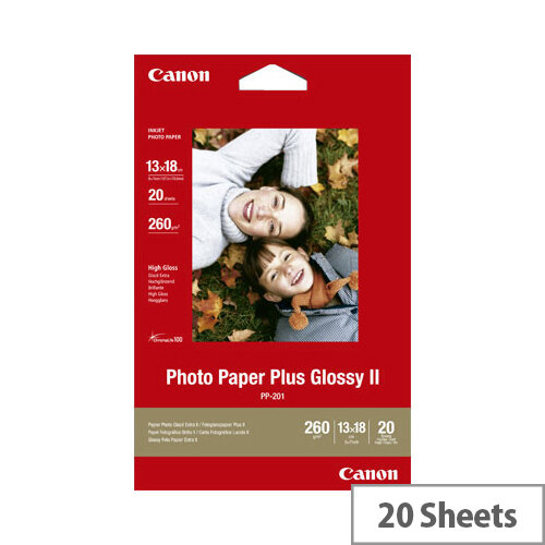 """Canon 5x7"""" Glossy Plus Photo Paper (Pack of 20)"""