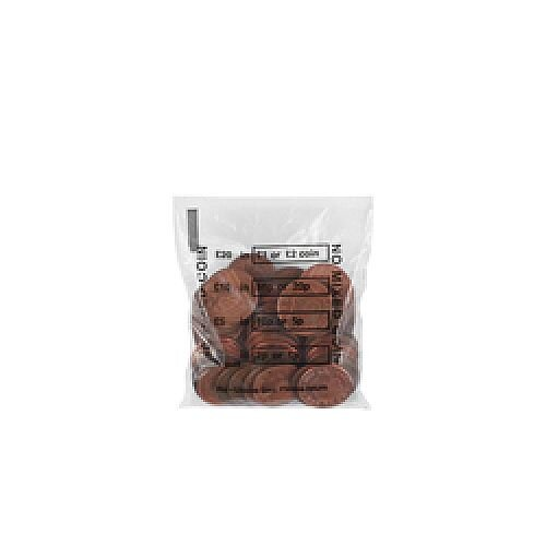 Cash Denominated Coin Bags for Sterlings £ (Pack of 5000) 0936003