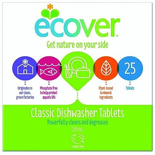 Ecover Dishwasher Tablets Environmentally Friendly Pack 25 Ref VEVDT