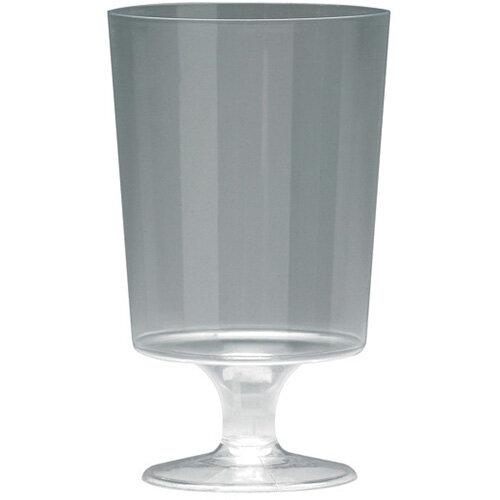 Plastic Stem Wine Glasses Clear 200ml Pack of 10 510032