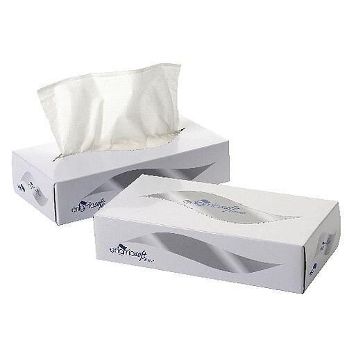 2Work Facial Tissues 100 Sheet per Flat Box (Pack of 36) KMAX10011 505283