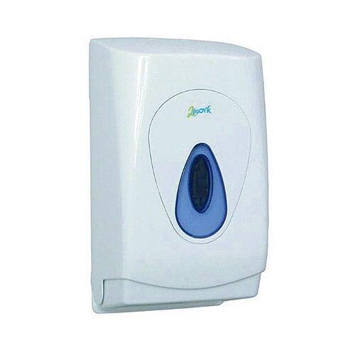 2 Work Bulk Pack Toilet Tissue Dispenser White