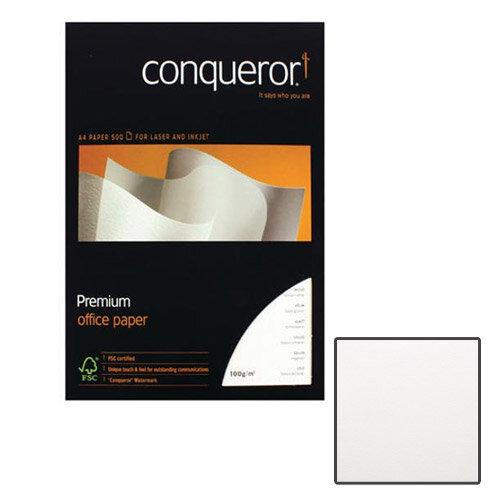 Conqueror Wove Smooth Texture Brilliant White Premium Paper A4 100gsm 500 Sheets