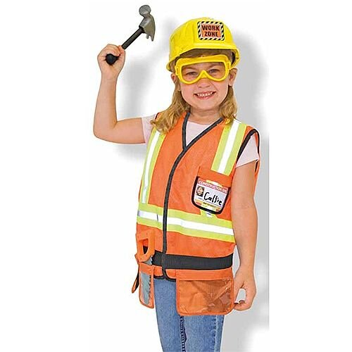 Construction Worker Kids Costume 3-6 Years