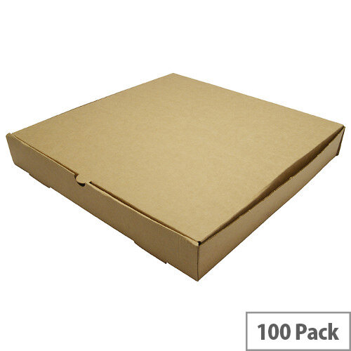 Disposable 12inch Brown Kraft Pizza Boxes Pack of 100