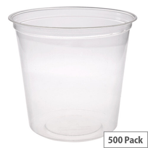 Compostable PLA 24oz Round Disposable Deli Containers Pack of 500